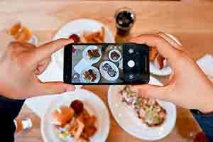 social media food picture